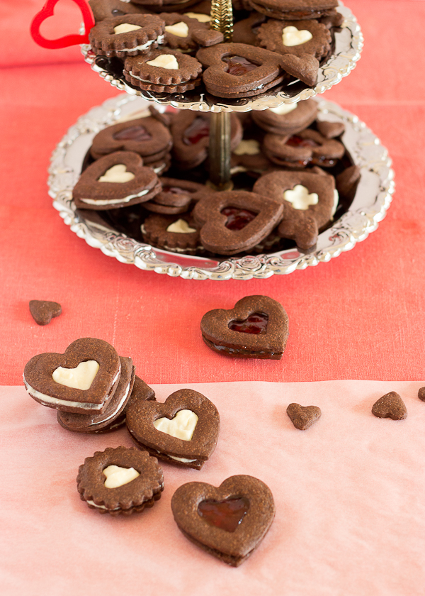 Chocolate Heart Cookies-8