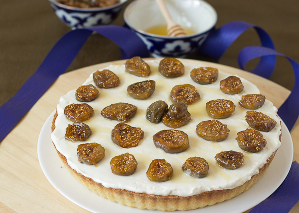 Mascarpone Tart with Honey Roasted Figs-6