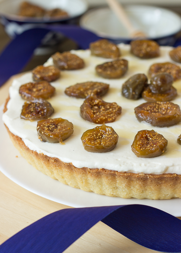 Mascarpone Tart with Honey Roasted Figs-7