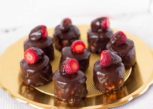 Strawberry Chocolate Petit Fours-12