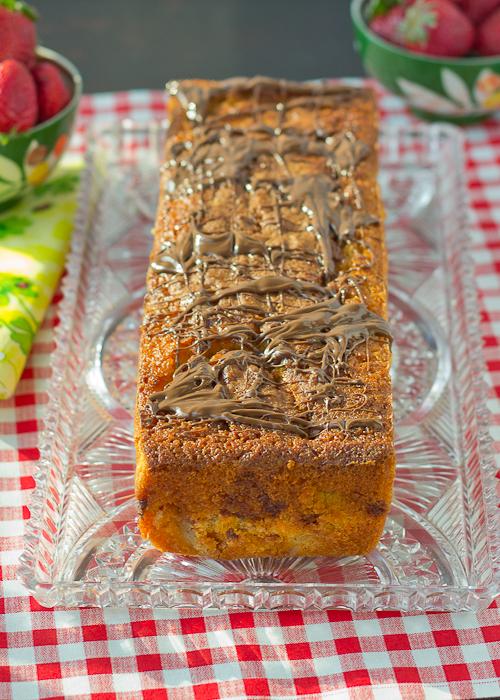 Strawberry Nutella Pound Cake-1