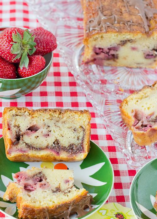 Strawberry Nutella Pound Cake-10