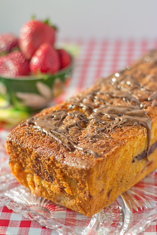 Strawberry Nutella Pound Cake-5