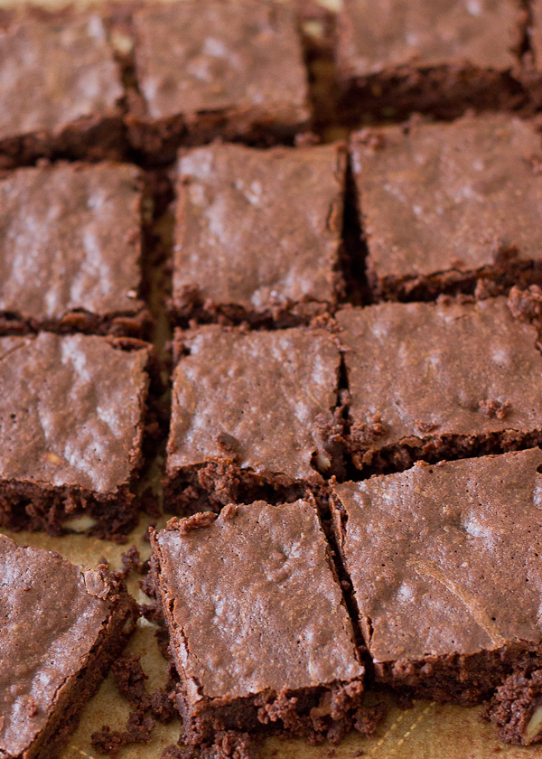 Fudgy Brownies with Almonds-1