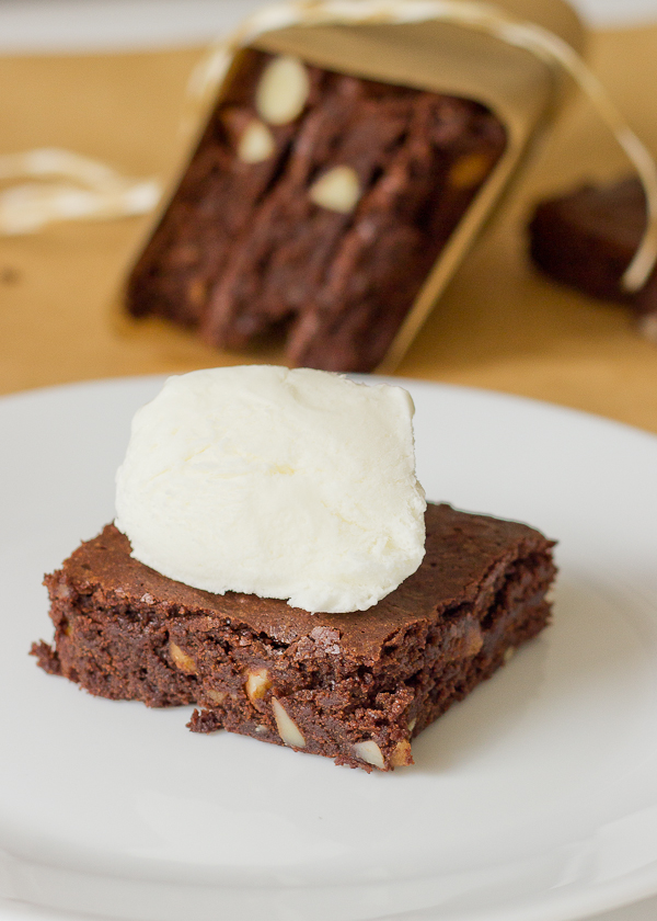Fudgy Brownies with Almonds-10