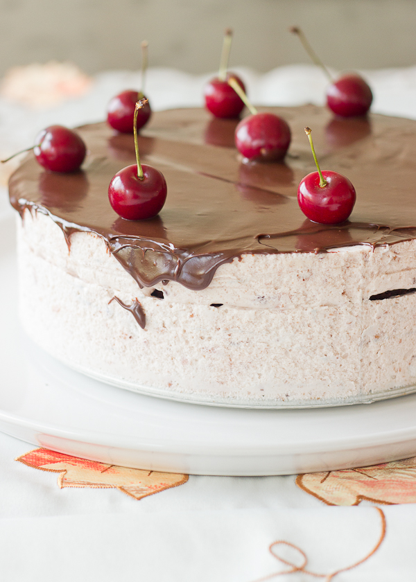 Cherry Mousse Chocolate Cake - Baking After Dark